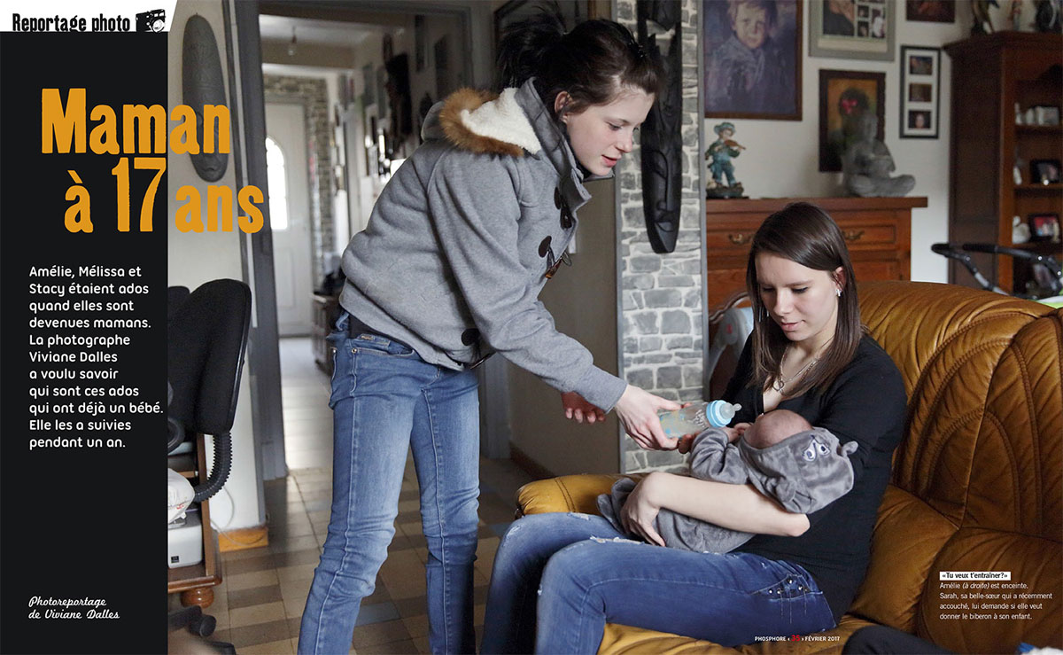 Teenage Motherhood in FranceFrench magazine Phosphore, February 2017
