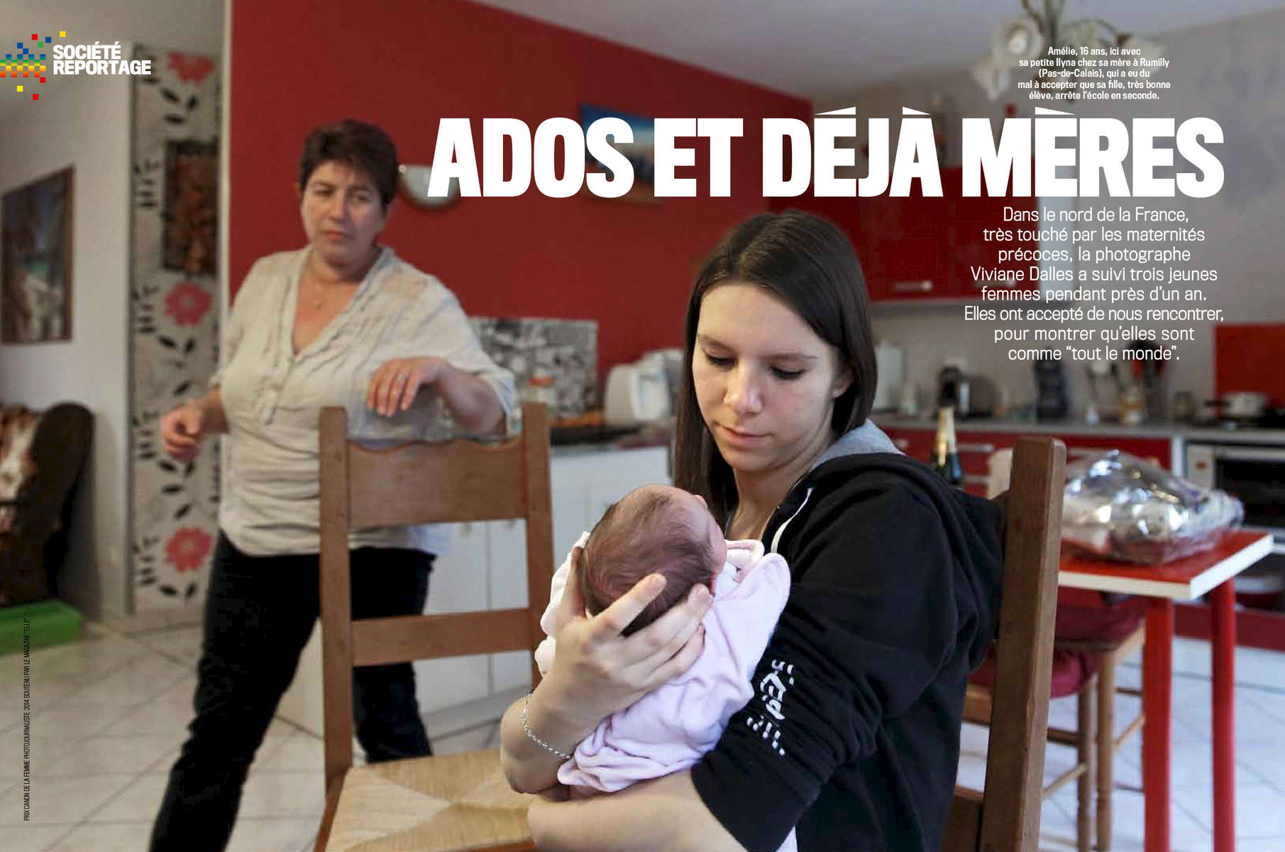 Teenage Motherhood in FranceFrench magazine VSD, January 2016