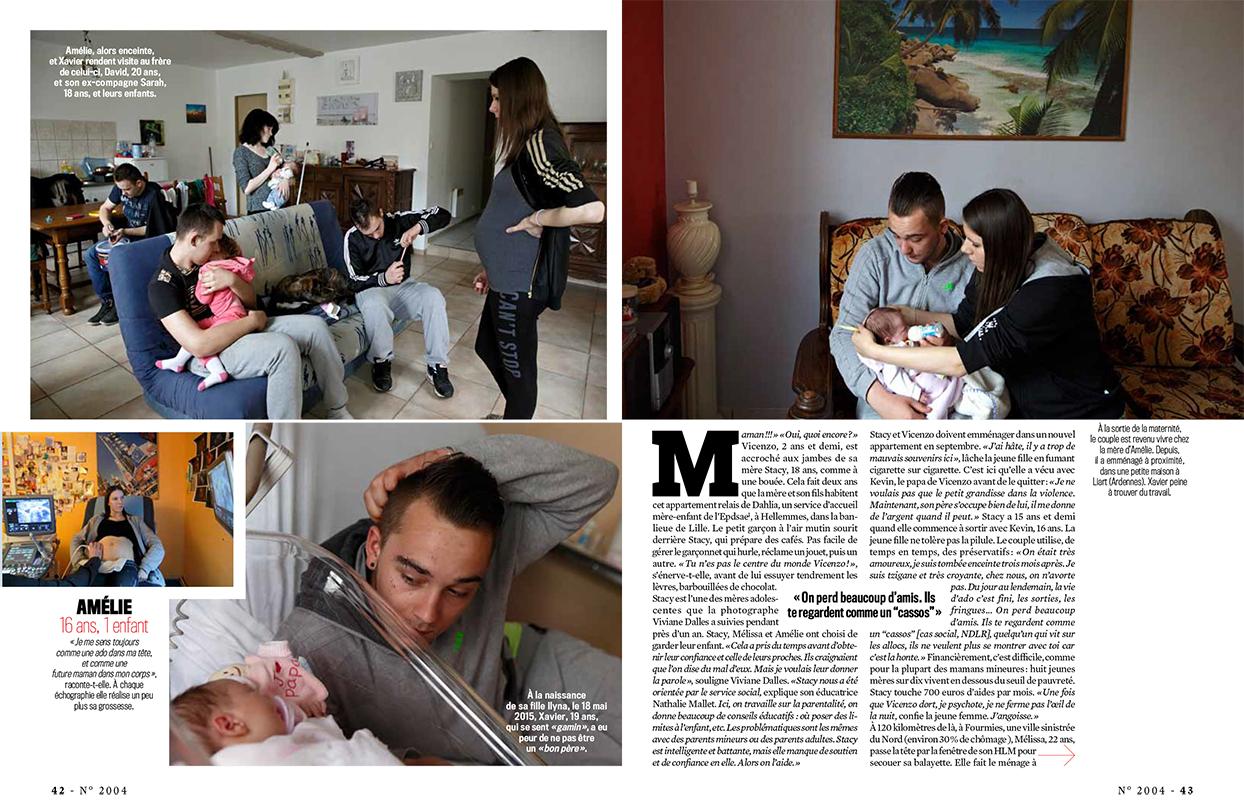 Teenage Motherhood in FranceFrench magazine VSD, January 2016