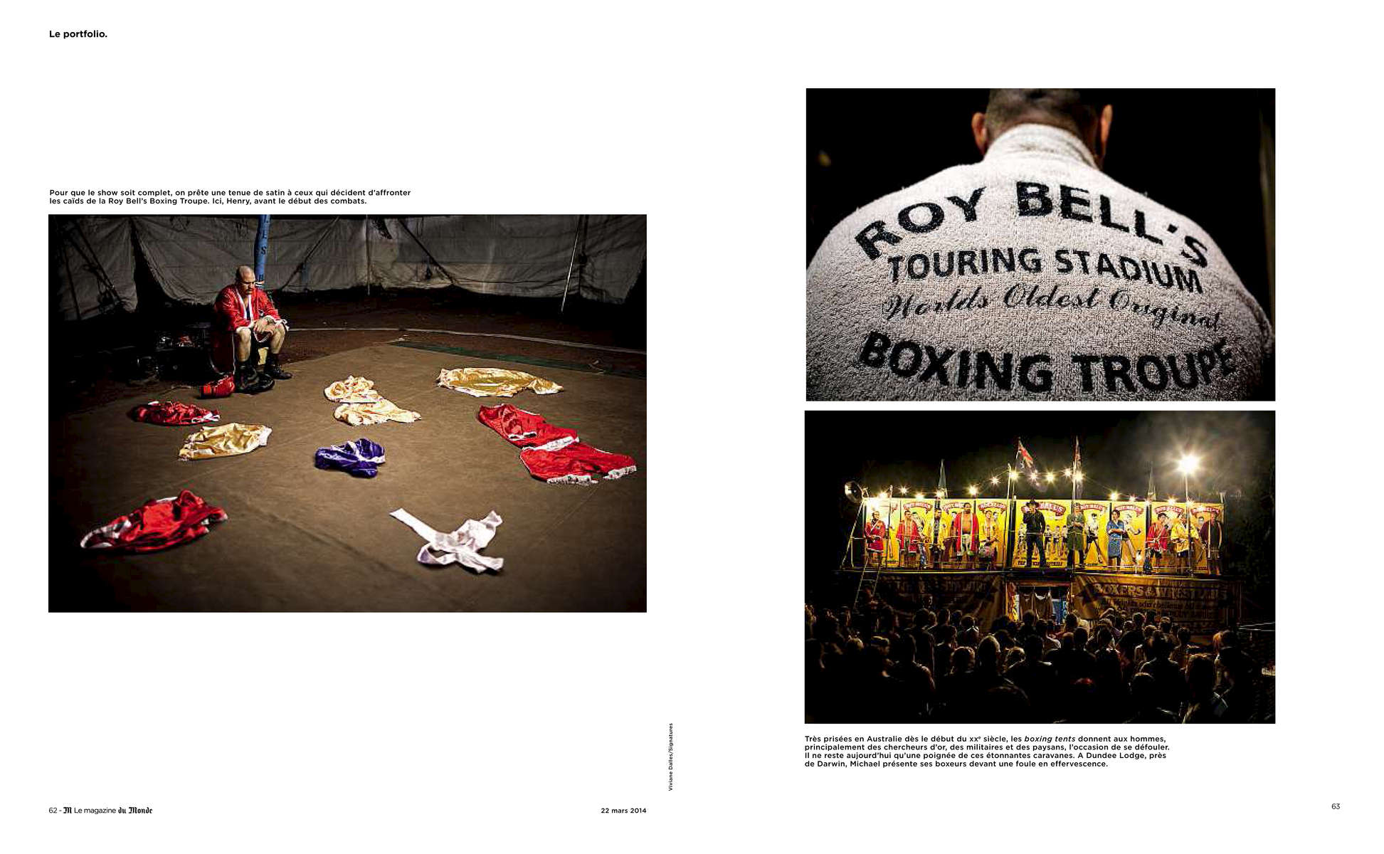 Boxing Tent, AustraliaFrench magazine, M (Le Monde), March 2014