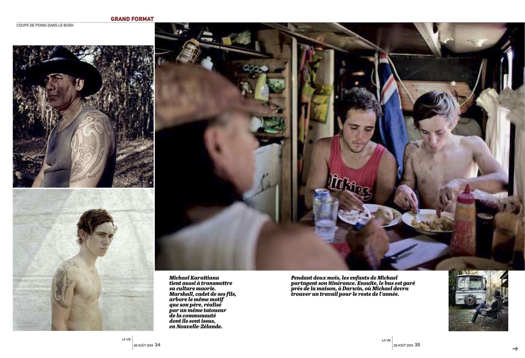 Boxing Tent, AustraliaFrench magazine, La Vie, August 2014