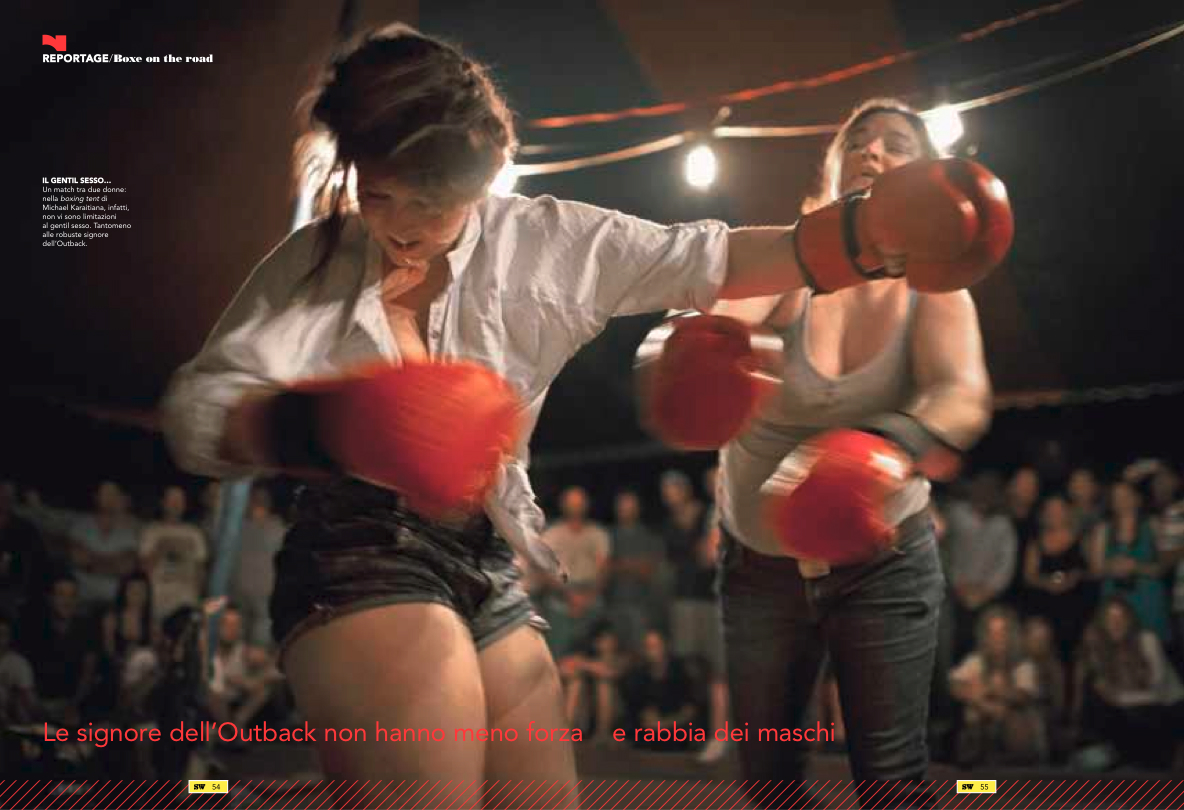 Boxing Tent, AustraliaItalian magazine, La gazetta Dello Sport, 2015
