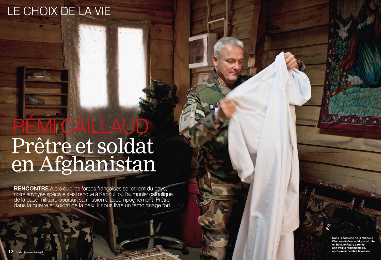 Prête dans la guerre, Afganistan, 2012, Article de Anne Guion