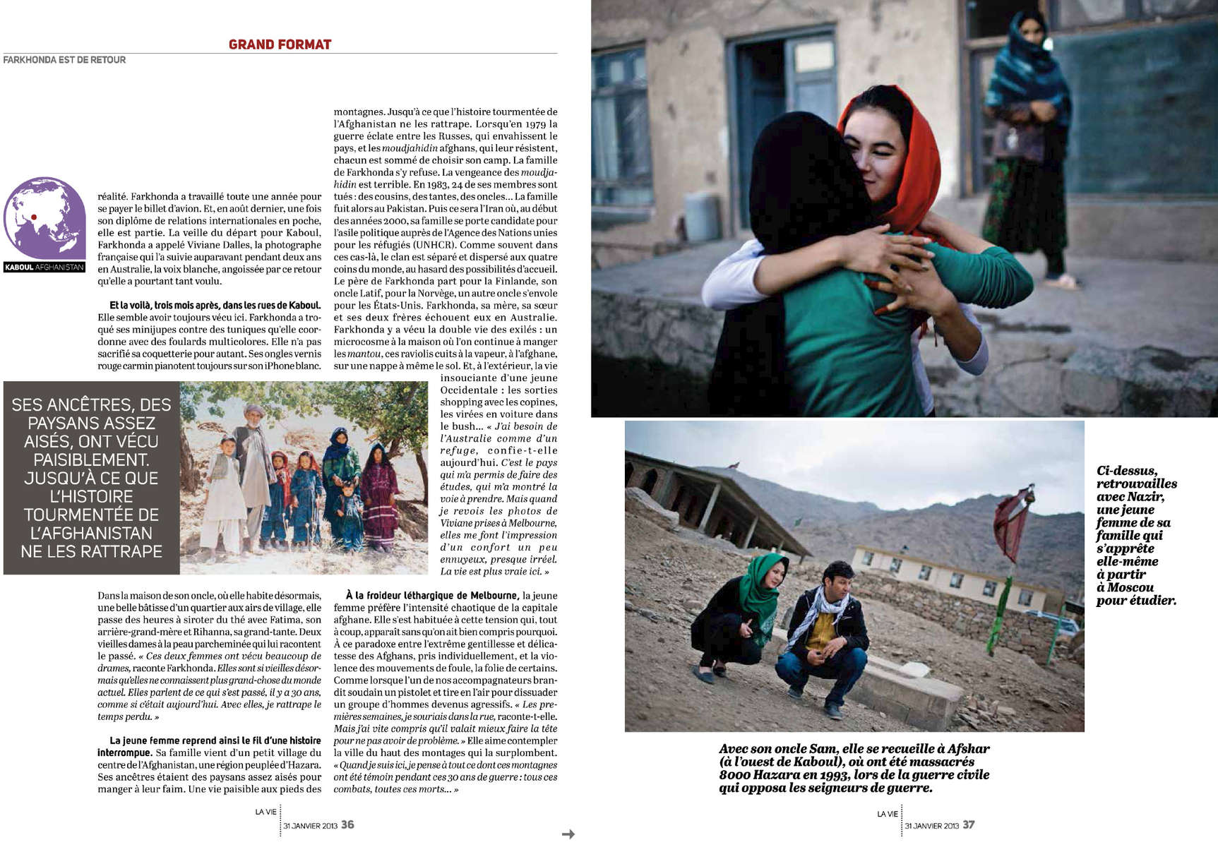 Farkhonda, de Melbourne à Kaboul, Afghanistan, 2010-2012