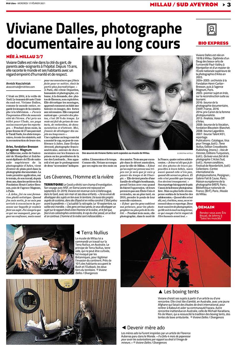 Viviane Dalles, Photographe documentaire au long cours