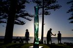 Sculpture de l'artiste Japonnais Toshio Lezumi, Cottesloe, Australia.