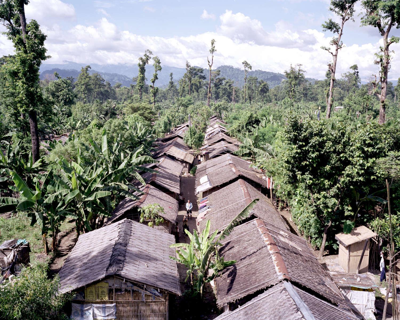 Camp de réfugiés à l'est du Népal près de Damak. Il y a 7 camps de réfugiés. Ici, le camp de Beldangi compte près de 50000 réfugiés sur les 107.000 qui sont au Népal, 2009.