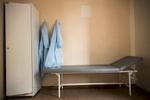 Pièce qui permet au corps médical de rencontrer leurs patients avec plus d'intimité. Institut Républicain de la TB, Minsk, Bielorussie, 2018.