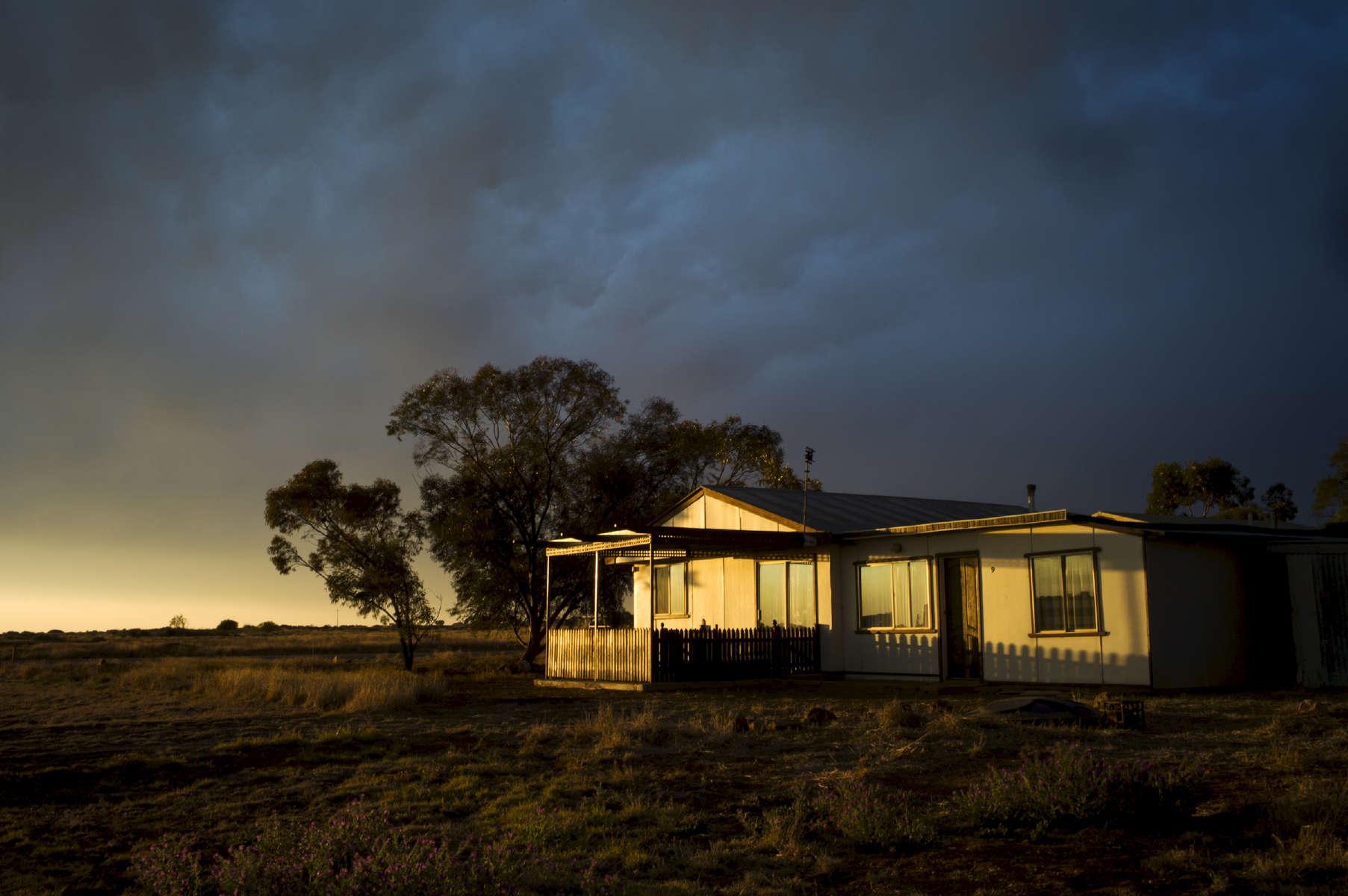 Maison typique du Outback, Nouvelle Galles du Sud,  Australie, 2011.