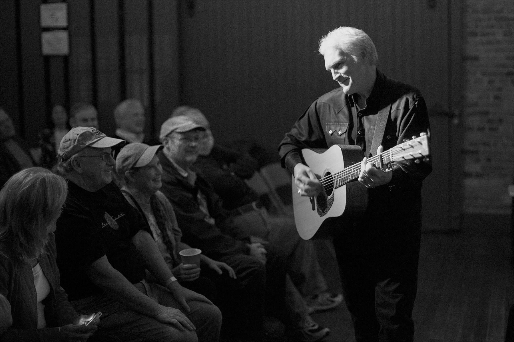 A SXSE favorite, Oklahoma born songwriter Verlon Thompson has played the series three times since it was started. He has been  a professional songwriter and traveling troubadour for 30 years and served as the trusted sidekick of the late Texas Americana songwriting icon Guy Clark. This photo was from his performance in November of 2012.