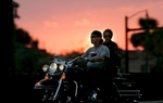 A biker and his passenger ride down 9th Ave. N  in Myrtle Beach Wednesday during the first day of the fall motorcycle rally The Pilgrimage.