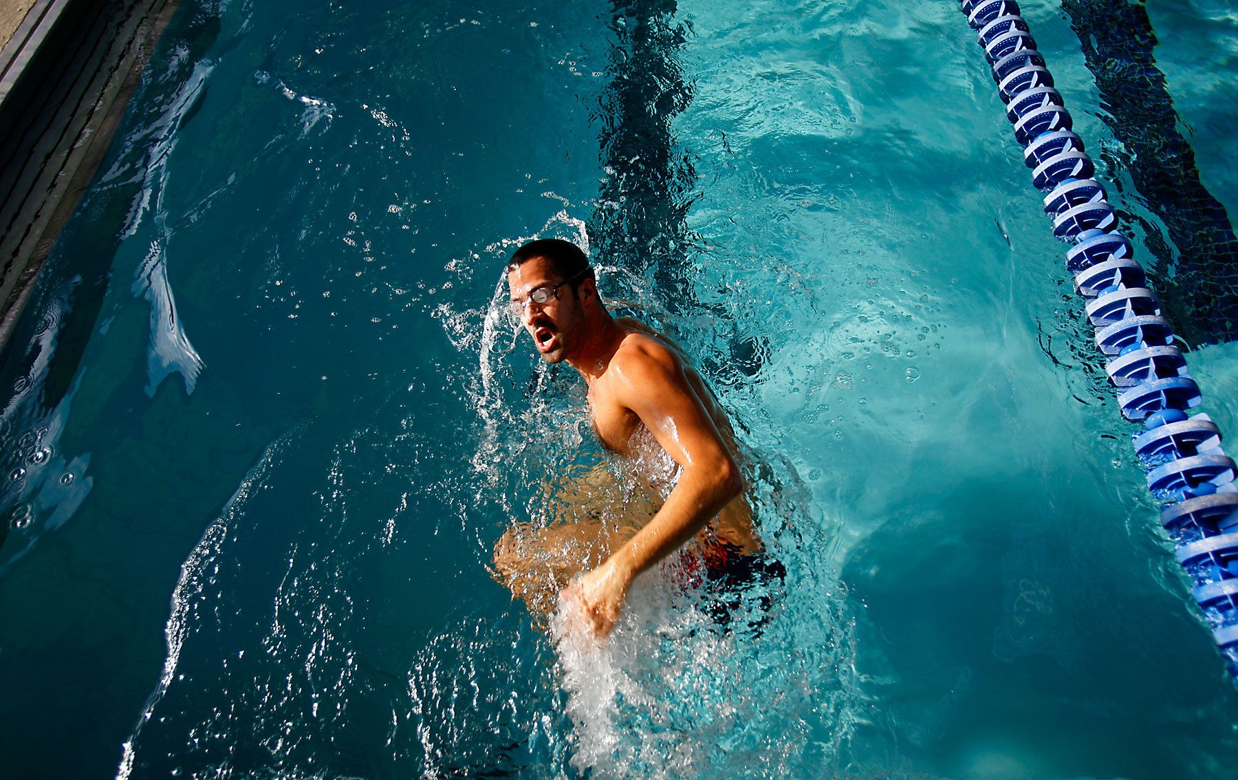 Myrtle Beach swimmer Gus Calado gets a workout Tuesday afternoon at Pepper Geddings Recreation Center in Myrtle Beach. The former Virginia Tech swimmer and current Coastal Aquatic Club assistant coach will compete this weekend at the Missouri Grand Prix.
