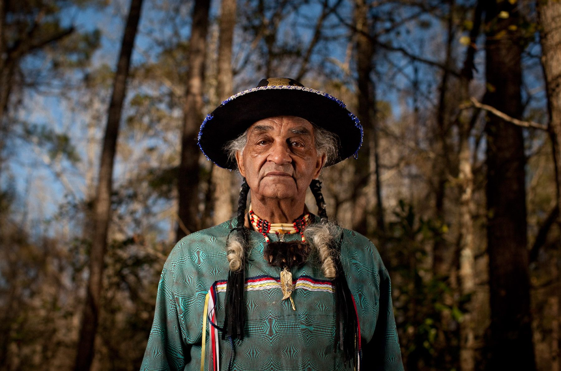 Chief Leon Locklear of the Tuscarora Nation of North Carolina.