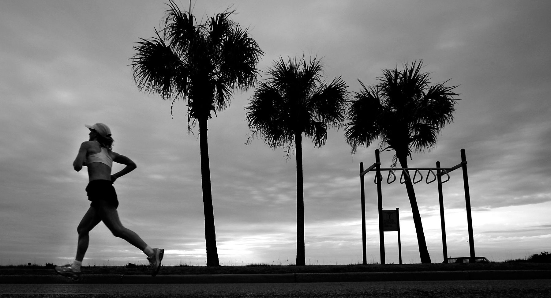 Marathon runner Christine Rockey makes her way down Ocean Blvd. during Saturday's 12th Annual Bi-Lo Myrtle Beach Marathon.