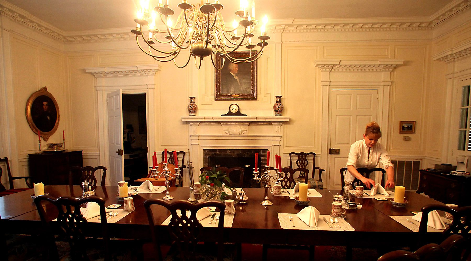 In the main dinning room, innkeeper Kathryn Green prepares breakfast for guests February 23, 2012, at Mansfield Plantation in Georgetown, S.C. The plantation is a National Historic Landmark consisting of 893 acres located on Black River. A former rice plantation, the property was converted into a bread and breakfast in 1990. Mansfield has 9 guests rooms and can accommodate up to 23 guests. In the South Carolina Lowcountry, more than a half-dozen antebellum plantations, which don't change hands often, are for sale.REUTERS/Randall Hill