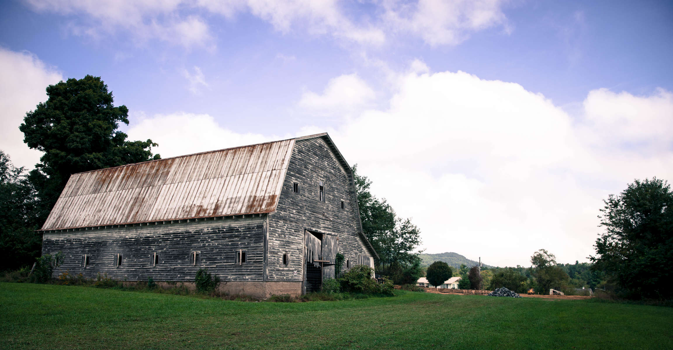 Greer barn, part of the Greer farm that's been on this corner of Watauga County since the 19th century. In 2016, the remaining 16 acres of the farm were sold to the Appalachian Regional Healthcare System, which plans to build an outpatient clinic at this location.
