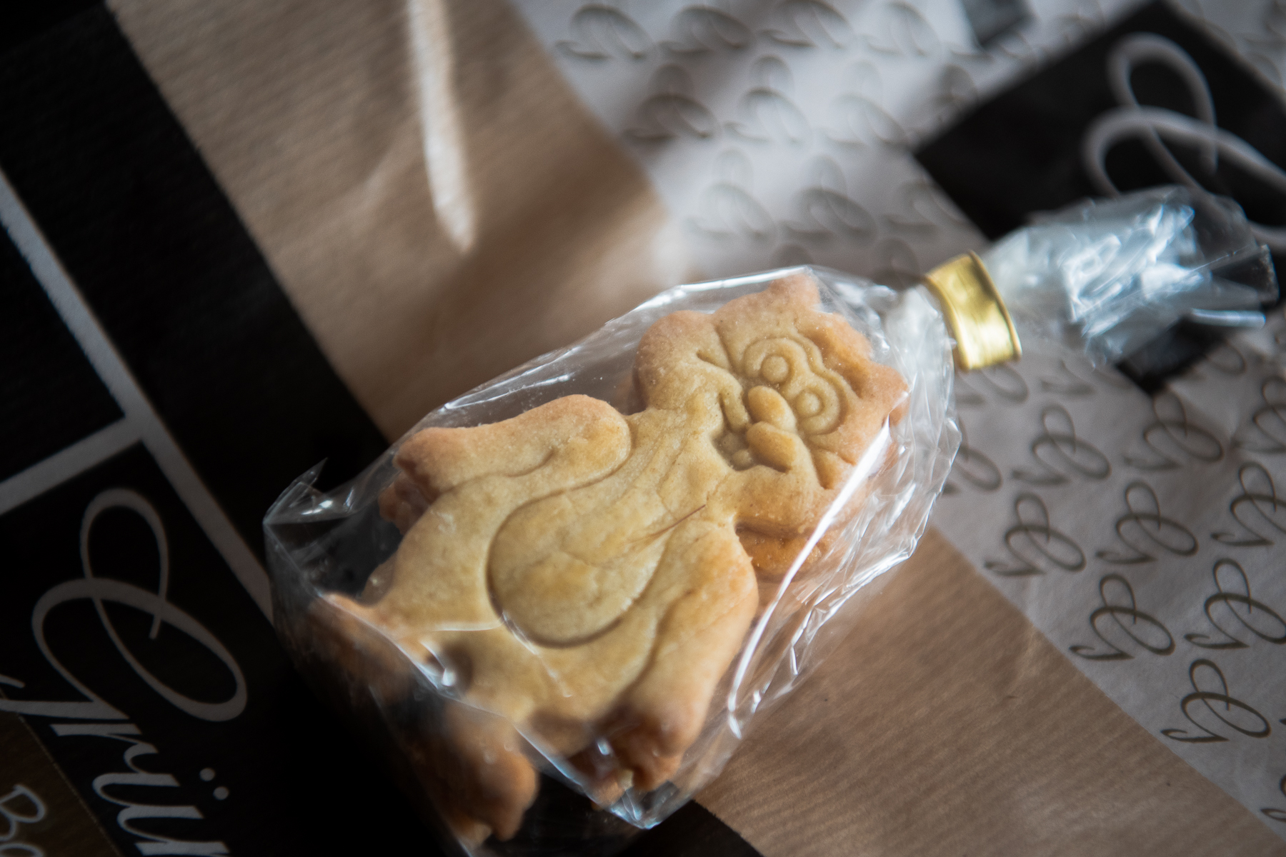 Mom and dad found a sign of the early stages of what would soon develop into the COVID-19 pandemic at a local bakery. These cookies in hamster shape are one baker's response to the onset of panic buying, which in German is called Hamsterkäufe (hamster purchases). Norddeich, Germany, March 5, 2020.
