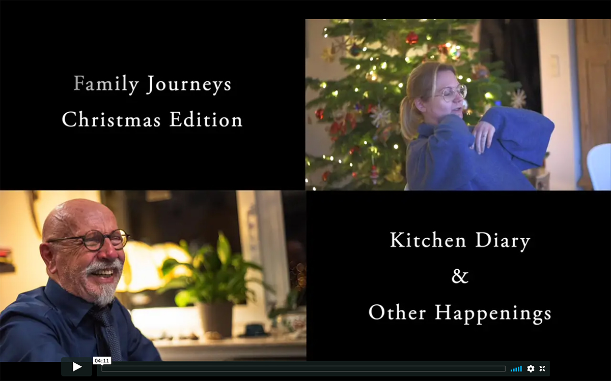 Family Journeys usually is about my parents and pictures. For our 2019 family Christmas reunion, I used the chance of having everyone in one place for a multimedia special.