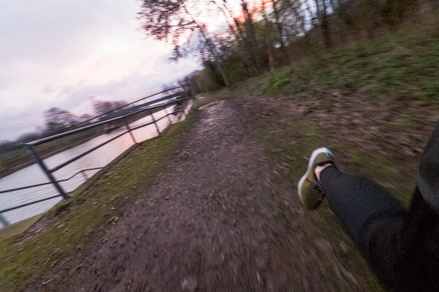 The Rhein-Herne canal in Oberhausen is a great spot for running (and other forms of recreation). Pictured here is a sunrise near the marina Oberhausen. Germany, March 13, 2020.