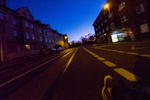 Signs of a pandemic: an empty and quiet street at 6 a.m. Mülheim, Germany, March 21, 2020.