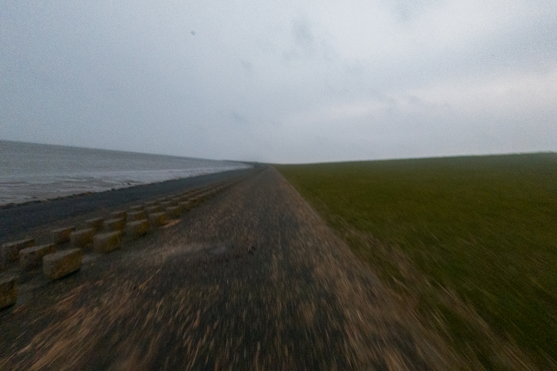 Welcome to the windy East Frisian coast, a particularly refreshing running location. Norddeich, Germany, March 6, 2020.