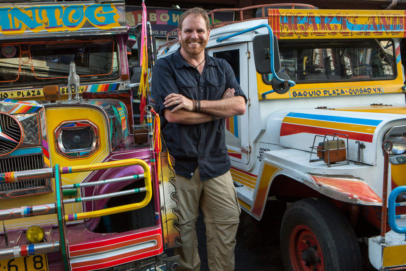 Josh Gates, Expedition Unknown, for The Travel Channel,  Baguio, Philippines.