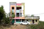 Free Architecture with a classin Ambassador car. , Neri Nagar, Tiruvannamalai, Tamilnadu, India