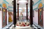 First-floor lobby. The self-built fortress of Kanagavelu; Kottai House. Free Architecture. Kottakuppam, Pondicherry, India