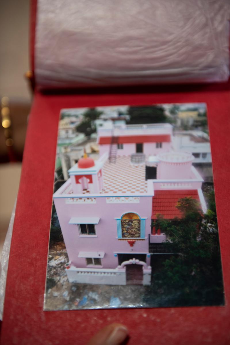 Sarala shows me a photo album documenting Kanagavelu's building projects. The self-built fortress of Kanagavelu; Kottai House. Free Architecture. Kottakuppam, Pondicherry, India